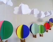 Hot Air Balloon Nursery decorations  / Up Up and Away Birthday Decorations / Baby Shower Decor / Hot Air Balloon garland