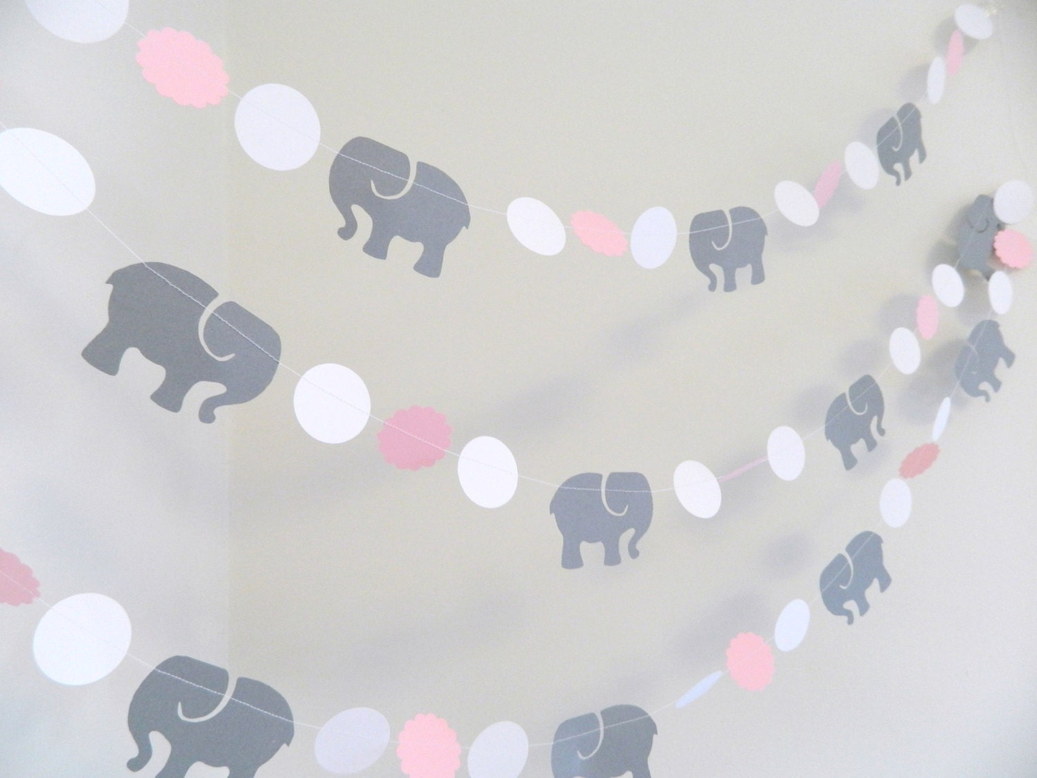 Pink gray elephant baby shower decorations gray elephant for Decoration elephant