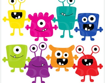 monsters clip art digital aliens clipart - Monsters Digital Clip Art