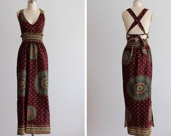 Vintage Nairobi Dreams Halter Style Dress
