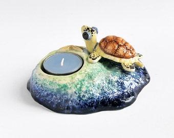 SALE 20% OFF -- Sea Turtle Candle Holder
