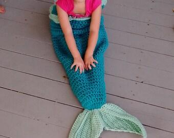Mermaid Tail Crochet Blanket Afghan