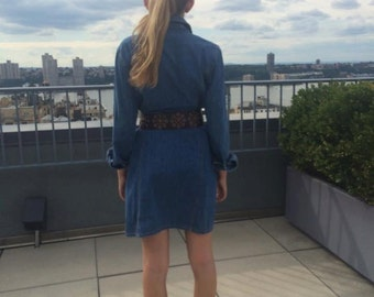 Vintage denim coat dress