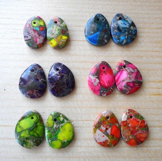 wholesale 6 pairs emperor jasper gemstone earring