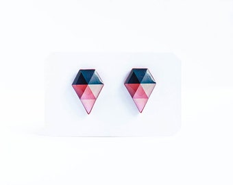 Geometric stud earrings contemporary jewelry unusual earrings