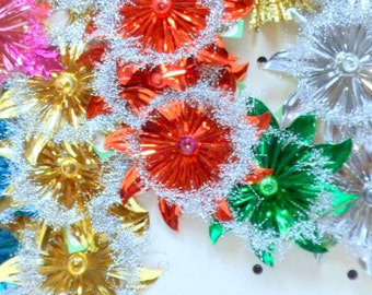 Christmas 1 Foil Ornament Glass Star Package Tie On Vintage 1950s Japan