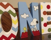 Peanuts - Birthday Party Photo Prop - hand painted - custom - freestanding