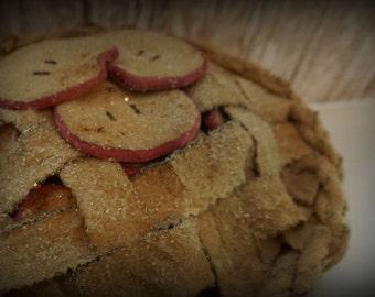 Primitive Apple Pie Faux Food Home Decor