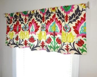 Curtain Valance Topper Window Treatment 53x15 Waverly Santa Maria Desert Flower Valance Curtains