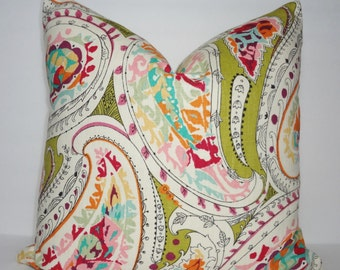 Richloom Multi Paisley Print Pillow Covers Decorative Throw Pillow Covers Size 18x18