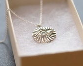 ONE OF A KIND Necklace evil eye, sterling silver
