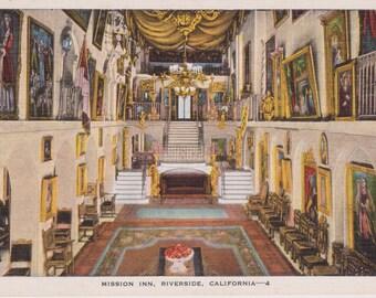 Mission Inn, Riverside, California - Linen Postcard - Unused (H1)