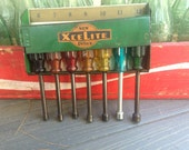 RESERVED Vintage Socket Wrenches Collection by XceLite - Vintage Tool - Vintage Home Decor - Vintage Metal Tin Case