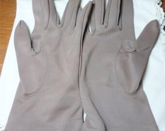 Vintage 1960s Brown Ladies Gloves - NOS