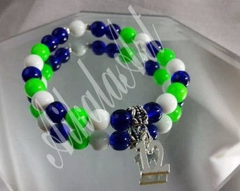 SEATTLE SEAHAWKS 12th Man bracelets-made to order