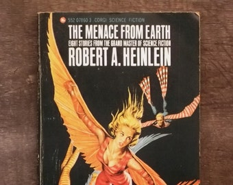 Science fiction short story book The Menace from Earth by Robert A. Heinlein vintage paperback book