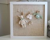 Nursery frame. Nursery decor. Baby gift. Baby shower. Kids decor. Crochet picture. Newborn gift. Baby picture. Nursery picture.