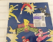 Power Ranger Wrapping Paper - New In Package - Bright Colors - Vintage -  Mighty Morphin - Hallmark 1996 - Blue Pink Red Yellow Black Ranger