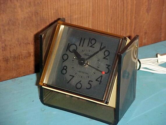 Vintage 1970's Sunbeam Electric Alarm Clock By AuntLenoras