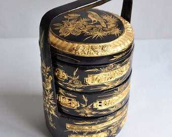 Chinese Lacquer Wedding Basket