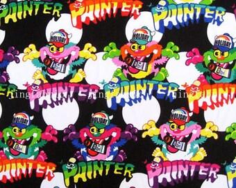 C068A - 150c.x100cm Cotton Fabric - Cartoon - Parttner - black