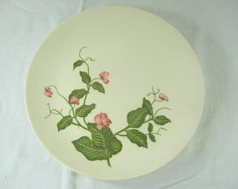 Vintage SWEET PEA PLATE Set/3 Homer Laughlin Luncheon Pink Vining Flowers