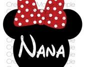 Minnie Mouse Inspired Nana Transfer