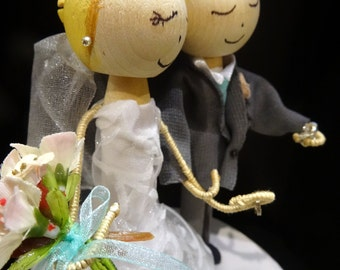 Summer Wedding Cake Topper