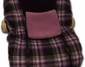 Plaid Fabrics for NUZZLERS - Use CUSTOM NUZZLER listing to order your Nuzzler Car Seat Cover