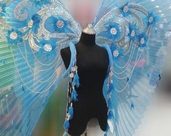 Butterfly Victoria Secret Blue Angel Wings Backpack