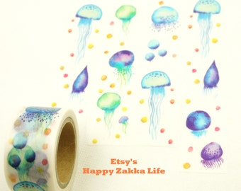 Jellyfish - Japanese Washi Masking Tape - 25mm Wide - 7.6 yards