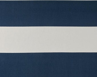 CLEARANCE Premier Navy Cabana Stripe 2/3 Yard Remnant. 28 Inches- Premier Prints Cabana Stripe Premier Navy Home Decor - Fabric by the Yard