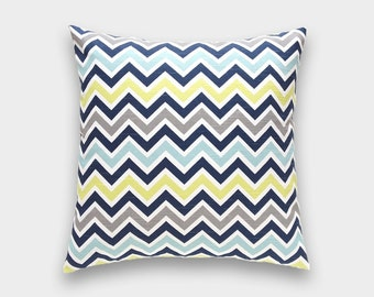 Clearance 50% Chevron Pillow Cover. Lime Green, 14x14, 16x16, 18x18, 20x20 or Lumbar. Green - Yellow Zig Zag Canal. Pillow Cover.