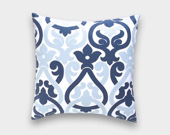 50% OFF CLEARANCE Premier Navy Blue Alex Pillow Cover. 18X18 Inches. Decorative Cushion Cover.