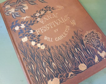 Farm Festivals Book by Will Carleton 1881 Illustrated Poetry