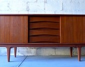 RESERVED for Leann // Mid Century Modern styled CREDENZA media stand