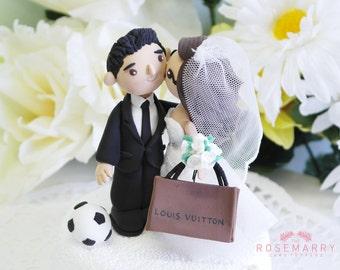 Custom Cake Topper- Downtown Couple