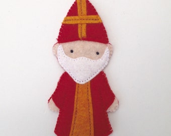 Saint Nicholas - Catholic Saint Toy - Finger Puppet