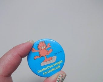 Vintage Garfield Button Pin 1980s