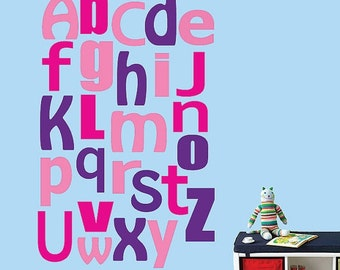 20% OFF SALE Alphabet Wall Decal Reusable Wall Decal - 328SWA Jumbo Size Extra Large
