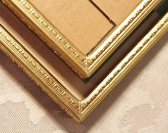 Gold Metal Picture Folding Frames Set of 2