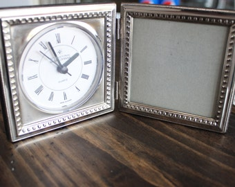 International Silver Co.-Silver Plated Clock Photo Frame