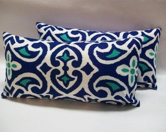 """Decorative Pillow- Robert Allen Pillow- Oblong Throw Pillow- 8""""x16"""""""
