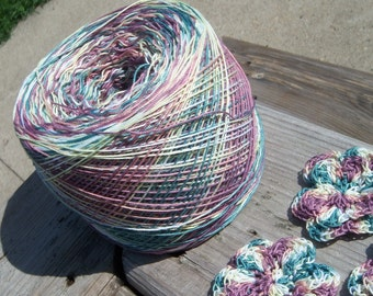 LAST AMOUNTS - Crochet Cotton - Size 10 - Hand Dyed - Mountain Trail - Small Project Size - 10, 25, 50, 75 or 100 Yards