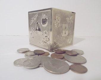 Silver Metal Children Bank