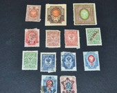 13  1917 Russian stamps Interesting collection