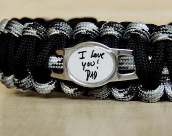 Personalized Signature Bracelet Paracord, Personalized Handwriting Bracelet Paracord, Custom Signature Bracelet, Actual Handwriting