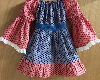 Infant Peasant Dress, size 6/9 months