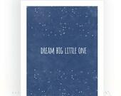 Dream Big Little One Printable, Star Nursery Décor, Star Wall Art, Kids Printables, kids bedroom Decor, Kids Bedroom Decor, Gifts For Kids