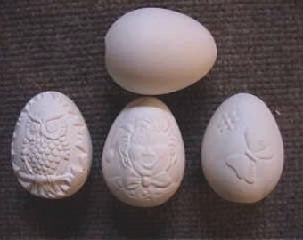 8, Easter Egg Ornaments, Egg Tree, Decorative eggs, Eggs with pictures, Easter Activity, Decoration, Ready to paint, Ceramic bisque,u-paint